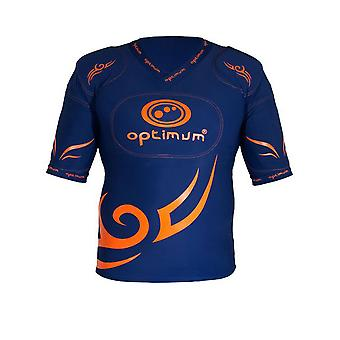 OPTIMUM tribal rugby five pad body armour junior [navy/orange]