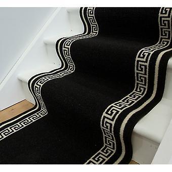 Centrale sort Anti Slip trappe tæppe Lima