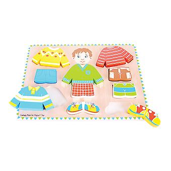 Bigjigs speelgoed jongen Puzzle - houten Dress-Up Jigsaw Dressing