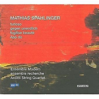 Ensemble Modern/Ensemble Rec - Mathias Spahlinger: Furioso; Gegen Unendlich; Diffus mesterstykke; APO gøre [CD] USA importerer