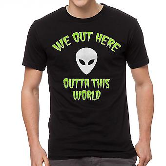 We Out Here Space Summer Men's Black T-shirt