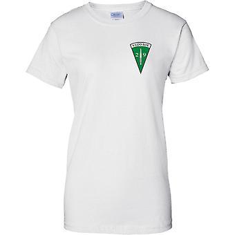 29 de Royal Marines Commando artillería - 3 Cdo brigada Insignia - señoras pecho diseño camiseta
