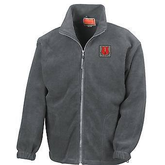 School Of Infantry Embroidered Logo - Official British Army Full Zip Fleece