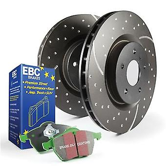 EBC Brake Kit - S10 Greenstuff 2000 and GD Rotors S10KF1282 Fits:INFINITI  2008