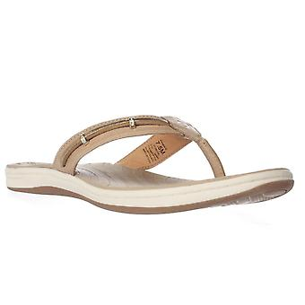 Sperry Womens Seabrook Wave Leather Split Toe Casual Flat Sandals