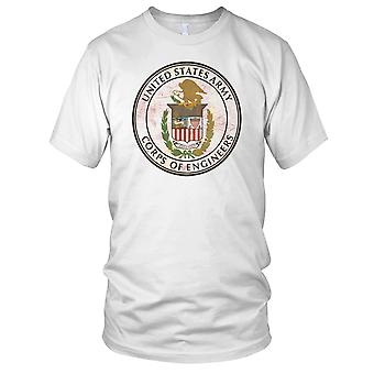 US Army Corps Of Engineers Grunge Effect Mens T Shirt