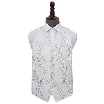 Silver Scroll Wedding Waistcoat