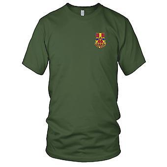 Batallón de artillería de campo - 566th de ejército de Estados Unidos bordado parche - para hombre T Shirt