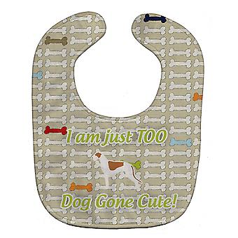 Carolines Treasures  BB6510BIB Greyhound Dog Gone Cute Baby Bib