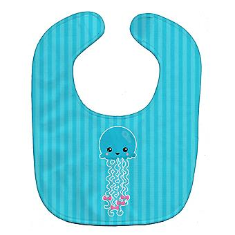Carolines Treasures  BB8908BIB Nautical Blue Jellyfish Baby Bib