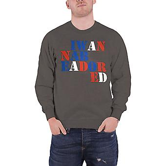 The Stone Roses Sweatshirt I Wanna Be Adored new Official Mens Charcoal