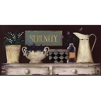 Impresión del cartel de serenidad por Jill Ankrom (20 x 10)