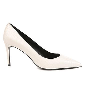 Saint Laurent Damen 375368CV6009030 Weiss Leder Pumps