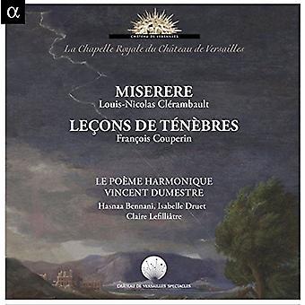 Le Poème Harmonique - Clerambault: Miserere Couperin: Lecons De Tenebres [CD] USA import