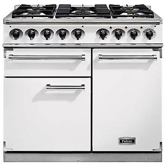 FALCON F1000DXDFWHNM 98650 - 100cm Deluxe Range Cooker, White Finish