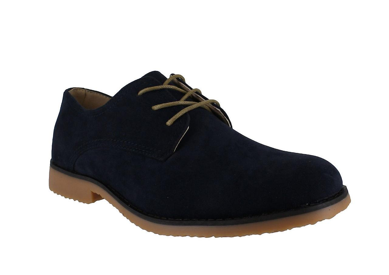 Classics Thomas Mens Smart Casual Faux Suede Derby Lace Up Rounded Toe Shoes