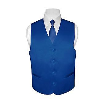Des jungen Kleid Weste & Krawatte solide Hals Krawatte Set