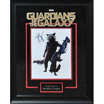 Guardians of the Galaxy - Signed by Bradley Cooper - Framed Artist Series