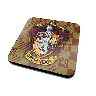 Harry Potter Coaster Gryffindor House Crest Official New Green (10cm x 10cm)