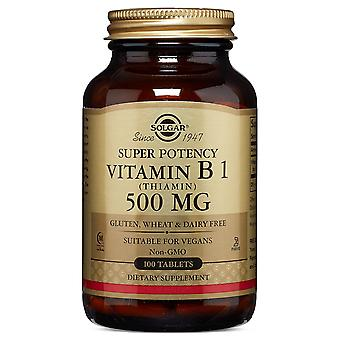 Solgar Vitamin B1 (Thiamin) 500 mg tabletter, 100