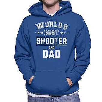 Weltbesten Shooter und Papa Herren Sweatshirt mit Kapuze