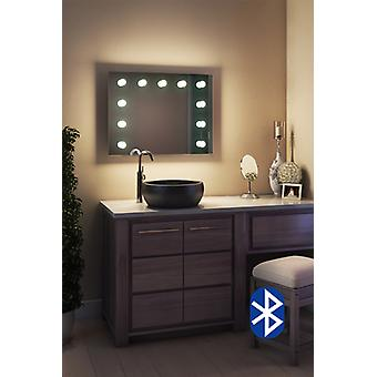 Diamond X Wallmount Hollywood Audio Mirror with LED k95LEDaudbath