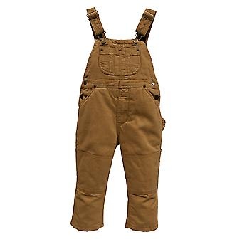 Infant Insulated Dungarees - Light Brown Kids Protective Overalls Snow Rain Wear