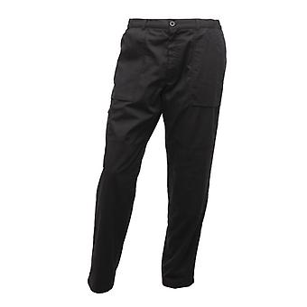 Regatta Mens New Lined Water Repellent Pocket Action Trousers (Long Leg) Black