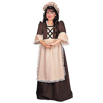 Colonial Girl Victorian Pilgrim Historical Pioneer Girls Costume