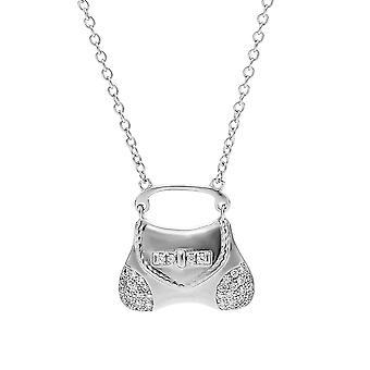 Orphelia Halskette Handtasche 925 Silber mit Zirkonium ZK-7294