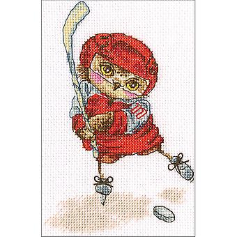 Shoot The Puck! Counted Cross Stitch Kit-6