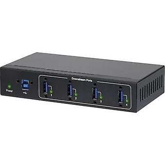 Renkforce 4 Ports USB 3.0 Hub Anforderungen industriellen, Wand-Mount-Option schwarz