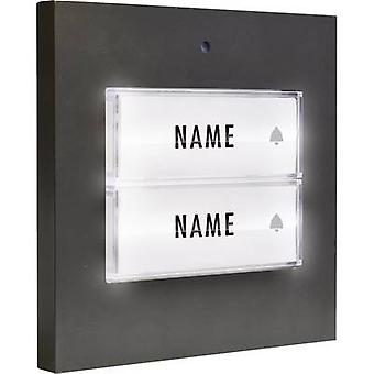 m-e modern-electronics 41051 Bell button backlit, with nameplate Semi-detached Anthracite 8-24 V AC/DC/1 A