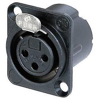 XLR connector Sleeve socket, straight pins Number of pins: 3 Black Neutrik NC3FD-LX-B 1 pc(s)