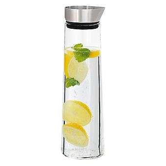 Blomus water carafe ACQUA, stainless steel matt glass combined, 1 litre