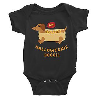 Halloweenie Doggie Baby Romper Gift zwart