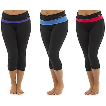 Pack of 3 Ladies Tom Franks Two Tone Sport Gym 3/4 Pants Fashion Sportswear
