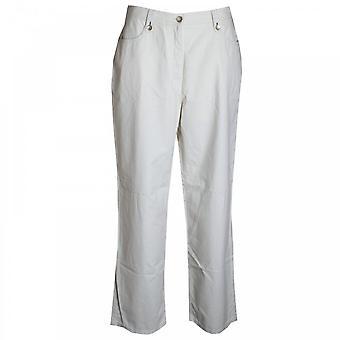 La Strada kvinners lang bomull Pocket bukse