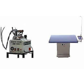 Magpie 5-litre Boiler and Rectangular Heated Ironing Table Bundle for Industrial Use