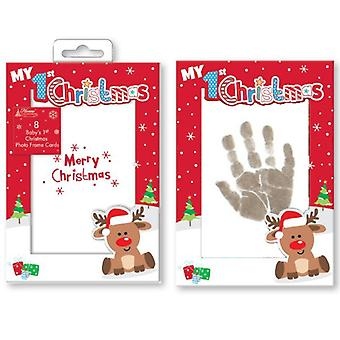 Baby's 1st Personalised Christmas Cards, Inkless Wipes & Paper.