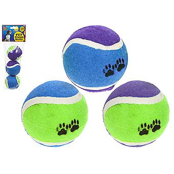 3PC DOG TENNIS BALLS