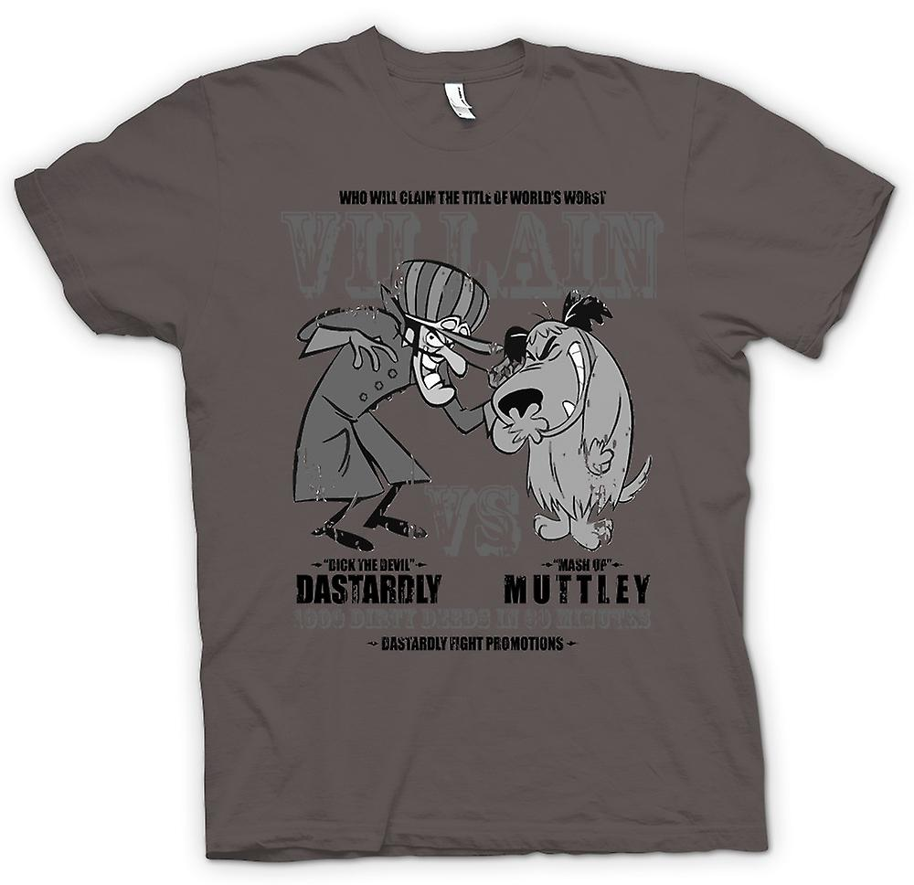 Mens T-shirt - Dastardly And Muttley - Villain - Funny