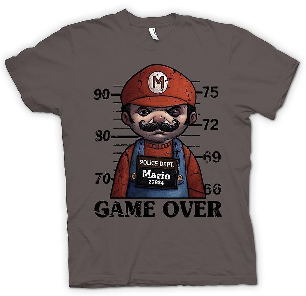 Mens T-shirt - Mario - Mug Shot - Funny