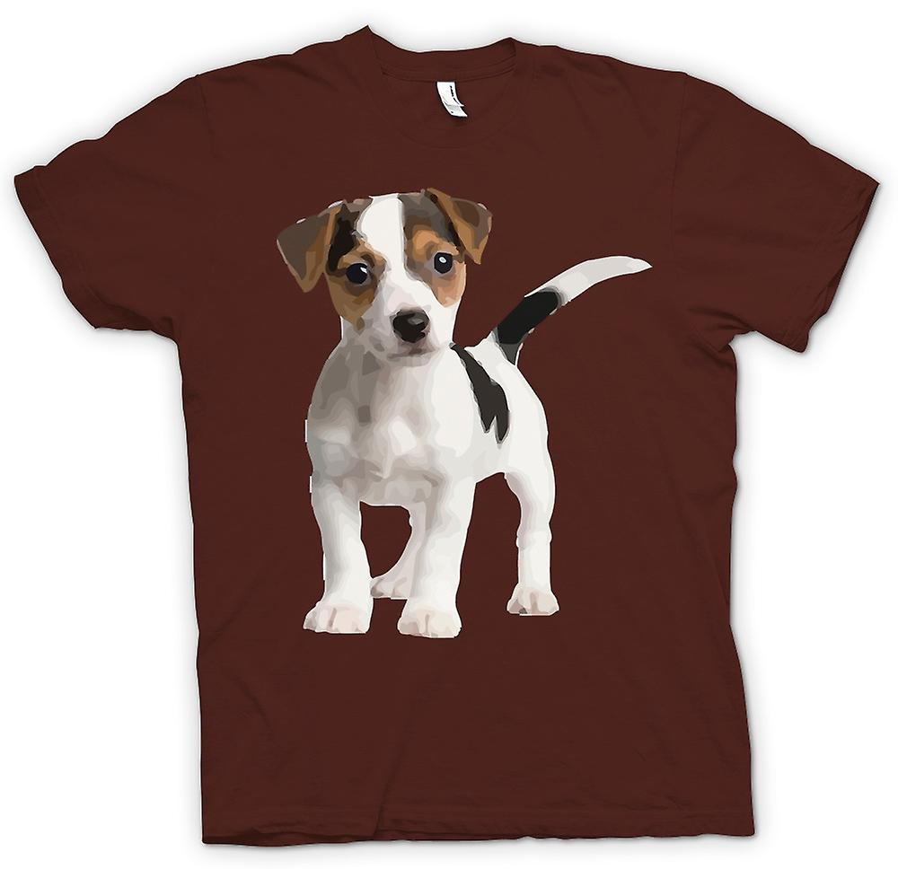 Mens T-shirt - Jack Russell Terrier Puppy - Cute