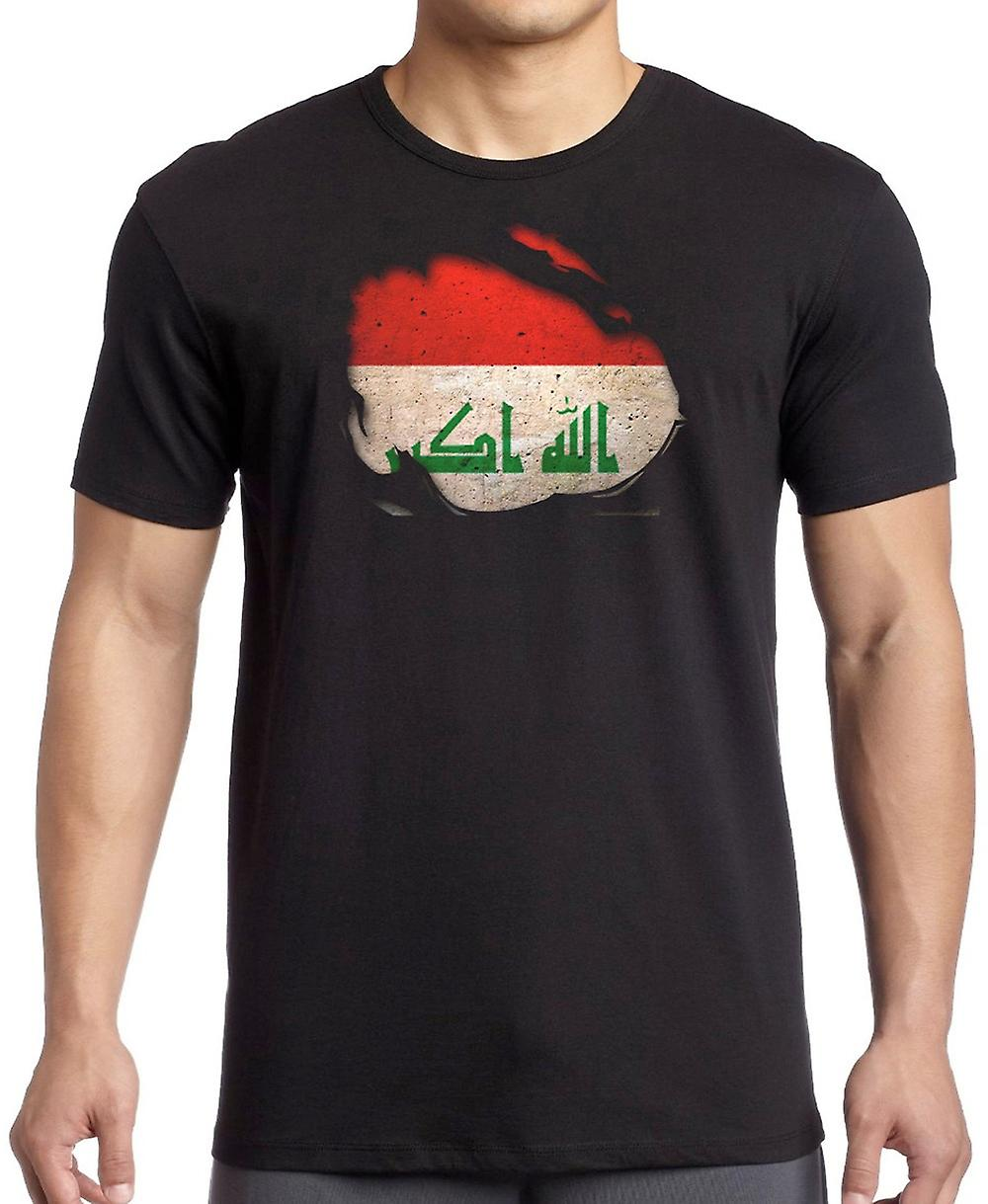 Iraqi Iraq Ripped Effect Under Shirt T Shirt