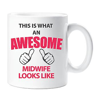 This Is What An Awesome Midwife Looks Like Mug