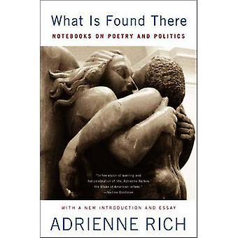 Ce qui est trouvé là - carnets de poésie et de la politique par Adrienne Ric
