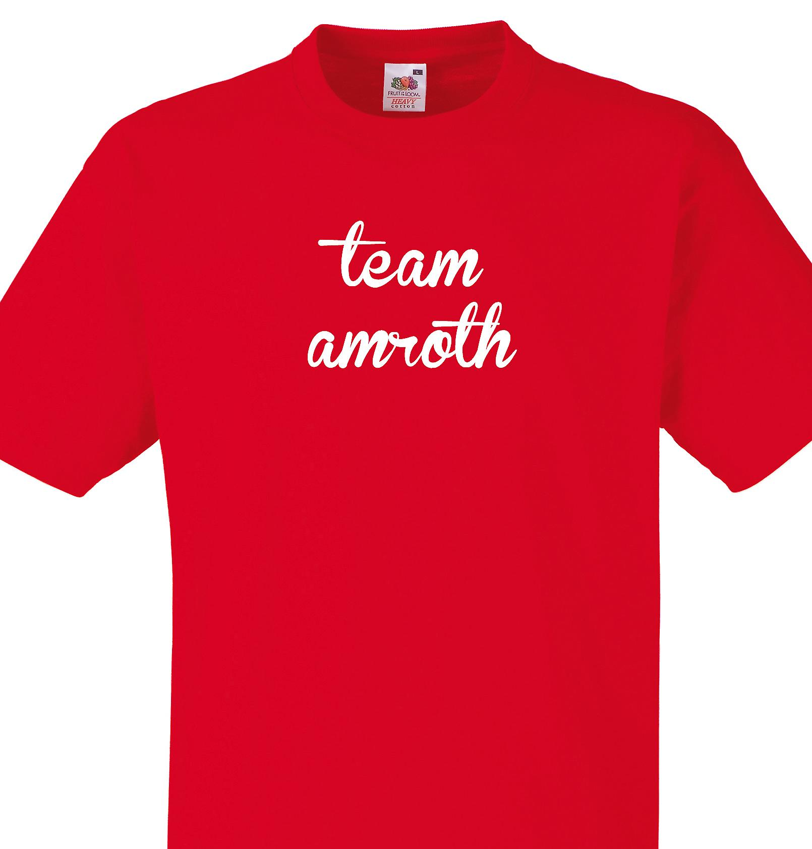 Team Amroth Red T shirt