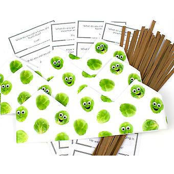 Googly Sprouts Adjustable Paper Hats, Snaps & Christmas Jokes for Cracker Making Crafts - 10 or 25 Pack