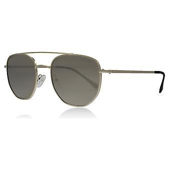 Prada Sport PS56SS ZVN1C0 Pale Gold PS56SS Oval Sunglasses Lens Category 3 Lens Mirrored Size 53mm